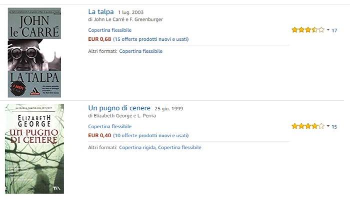 Libri a 1 euro online su Amazon