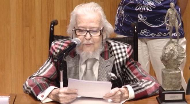 Lo scrittore Fernando Del Paso