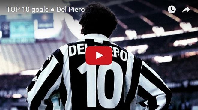 Migliori 10 gol di Del Piero in HD