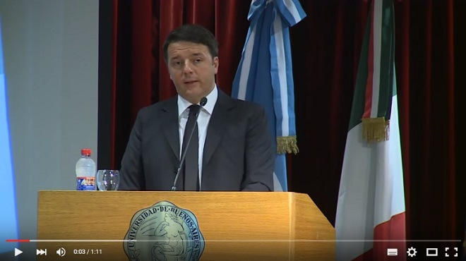 Renzi legge Borges in Argentina: il video